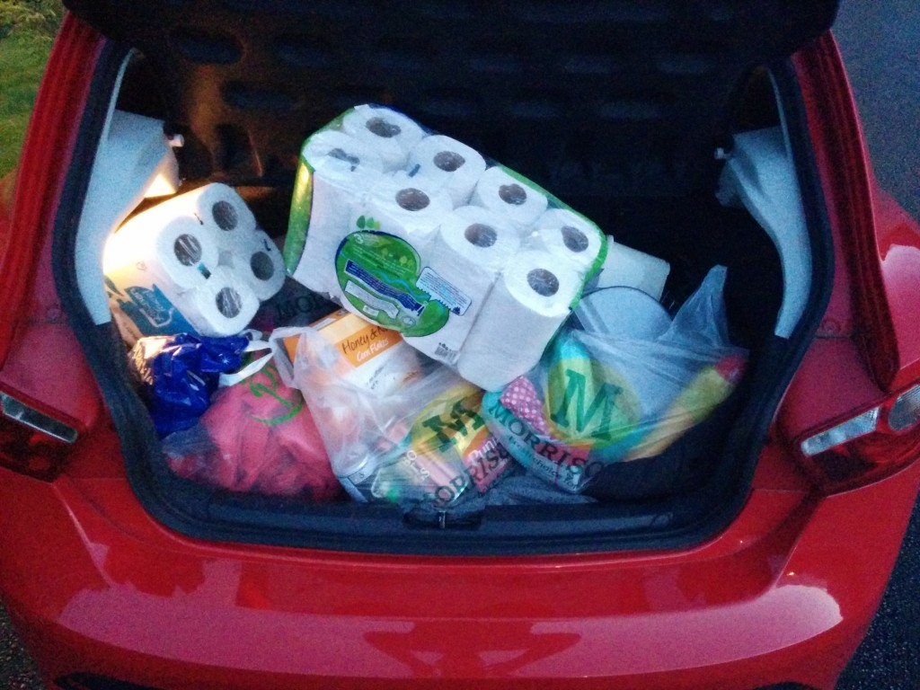 The boot wouldn't shut at first until we rearranged the shopping!
